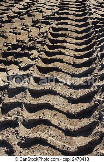 wheel tracks - csp12470413