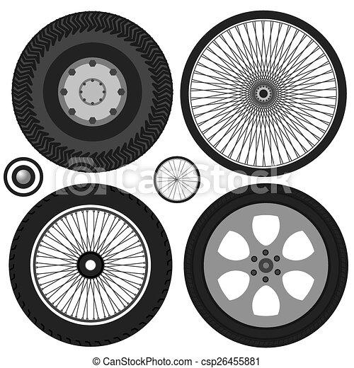 wheel vector - csp26455881