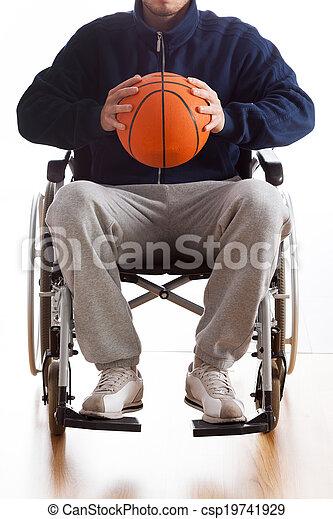 wheelchair basketball , άντραs  - csp19741929