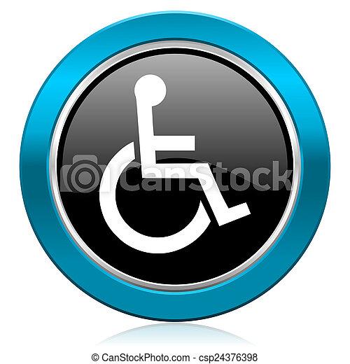 wheelchair glossy icon - csp24376398