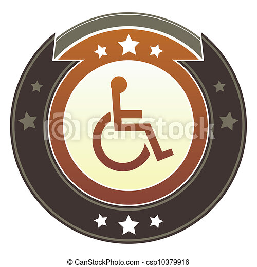 Wheelchair imperial button - csp10379916