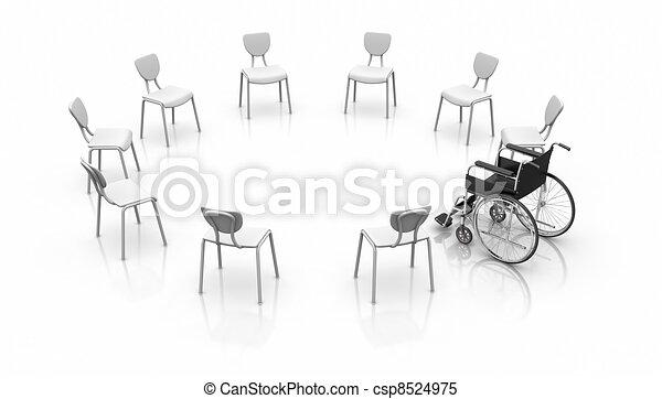 Wheelchair - Individuality Concept - csp8524975