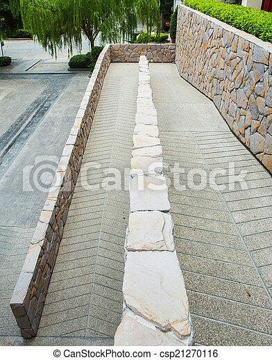 wheelchair ramp in bangkok Thailand - csp21270116