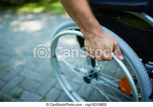 Wheelchair walk - csp16319802