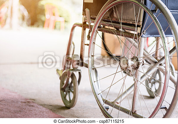 wheelchairs in the hospital - csp87115215