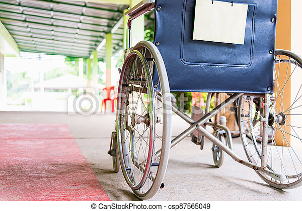 wheelchairs in the hospital - csp87565049
