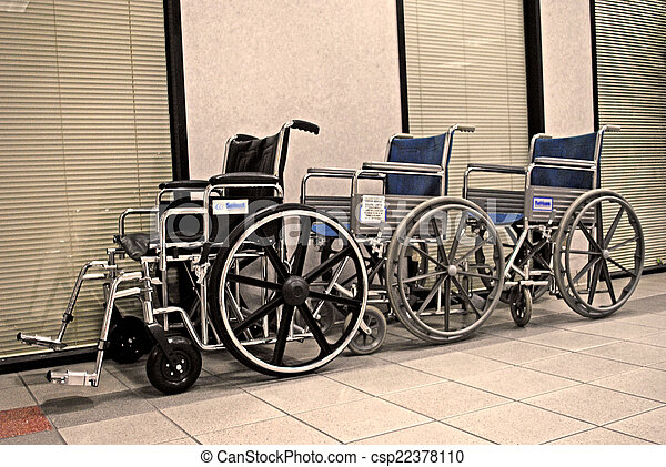 Wheelchairs waiting - csp22378110