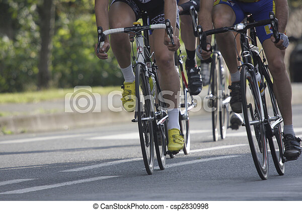 wheels during a cycling race - csp2830998