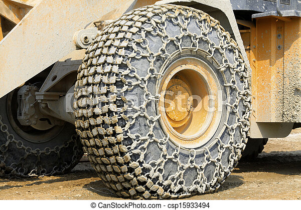 wheels with anti skid chain  - csp15933494