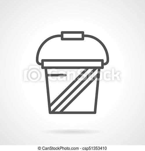 Whey Protein Simple Line Vector Icon Abstract Symbol Of Vector