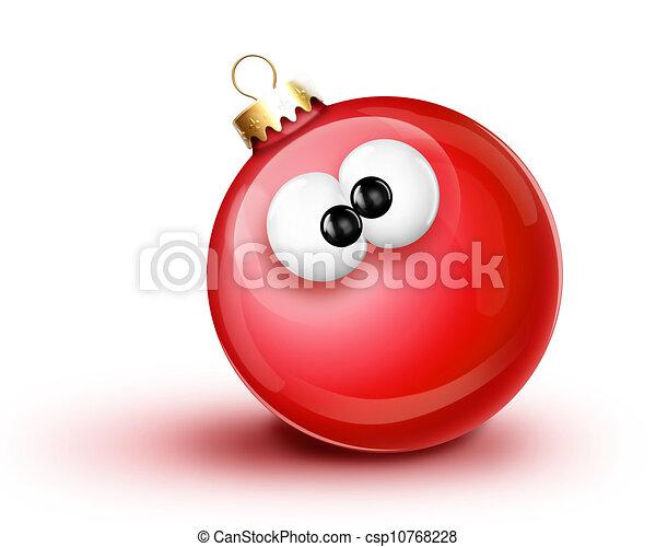 Whimsical Cartoon Christmas Ball - csp10768228