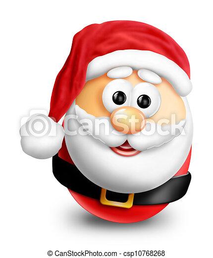 Whimsical Cartoon Christmas Santa - csp10768268