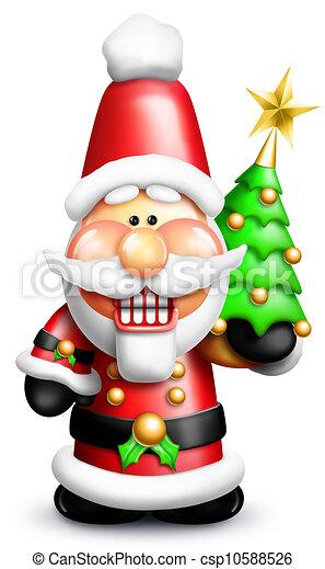 Whimsical Cartoon Santa Nutcracker - csp10588526