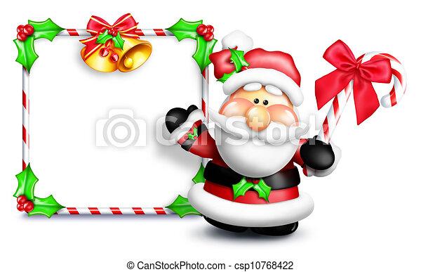 Whimsical Cartoon Santa Sign - csp10768422