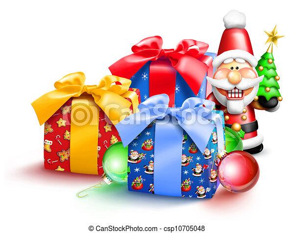 Whimsical Christmas Gifts - csp10705048