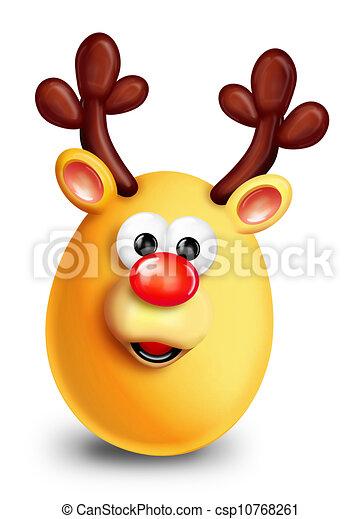 Whimsical Christmas Reindeer - csp10768261