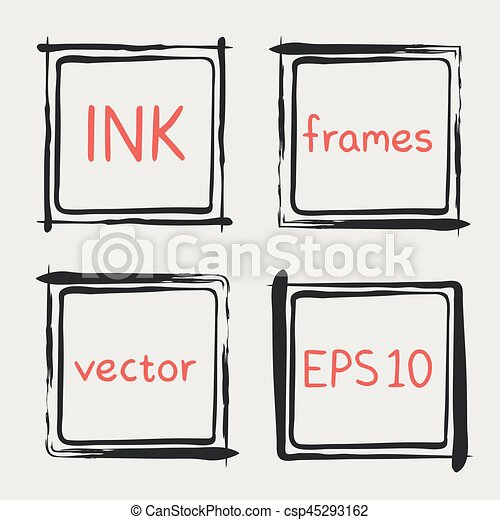 Whimsical frames hand painted with brush. Frames with whimsical ...