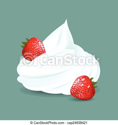 Whipped cream. Vector illustration  - csp24938421