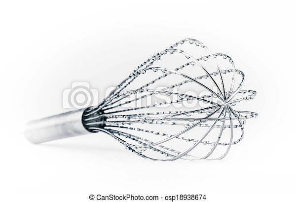 Whisk with water drops - csp18938674