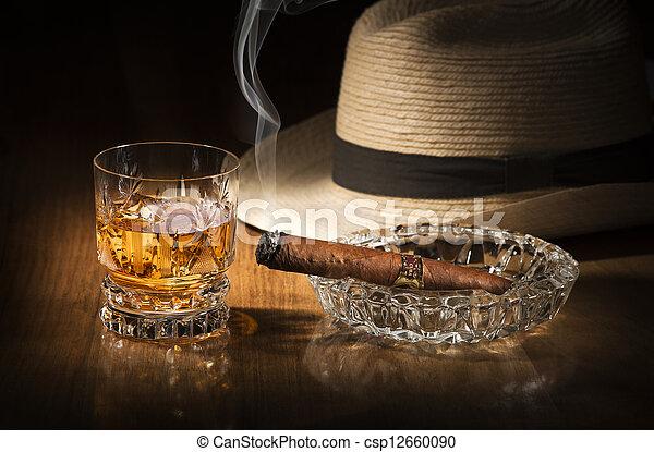 Whiskey and cigar - csp12660090