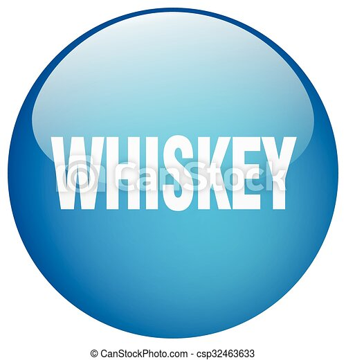 whiskey blue round gel isolated push button - csp32463633