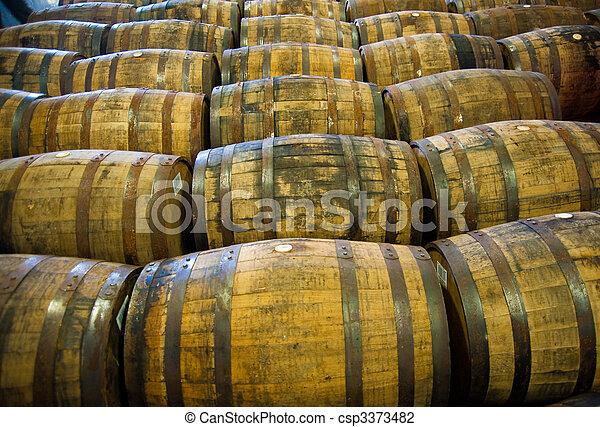 Whisky barrels - csp3373482