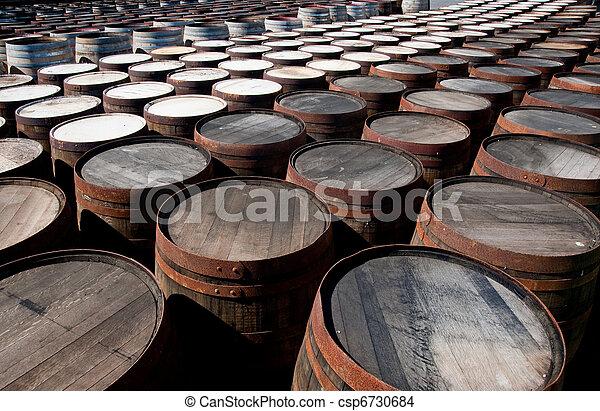 Whisky barrels - csp6730684