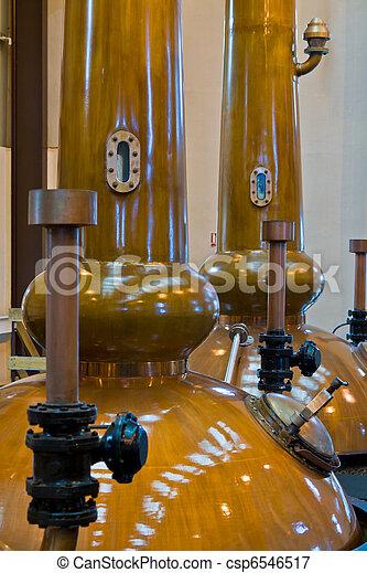 Whisky distillery stills - csp6546517