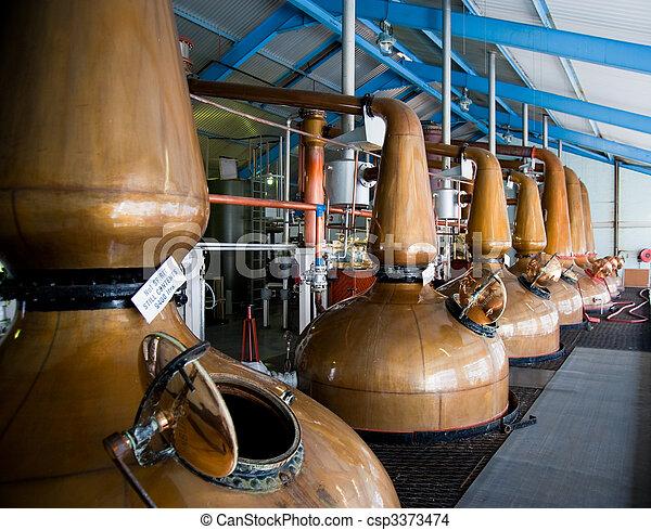 Whisky Distillery stills - csp3373474
