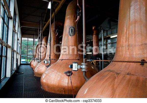 Whisky stills - csp3374033