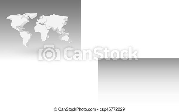 White 3d world map with dropped shadow on grey background vector white 3d world map with dropped shadow on grey background eps10 vector illustration gumiabroncs Gallery