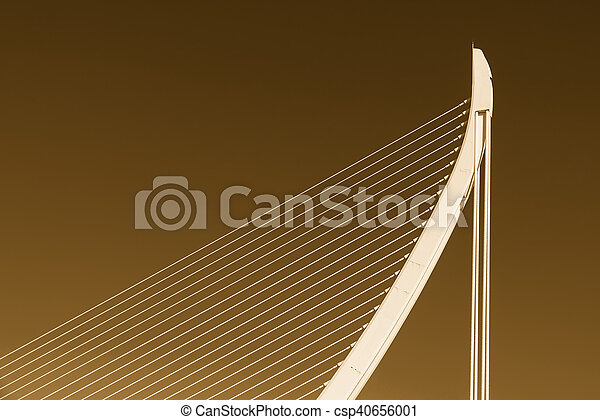 White Abstract Bridge Structure On Sky - csp40656001