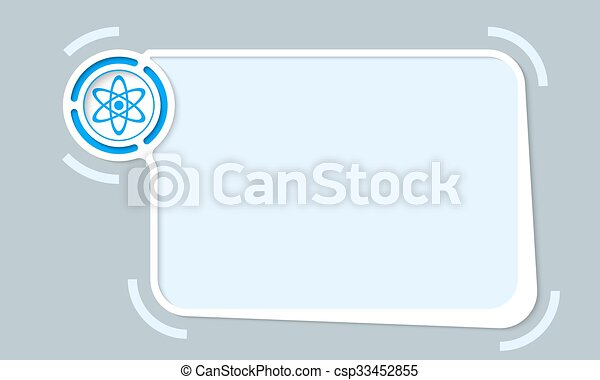 White abstract frame for your text and science icon.
