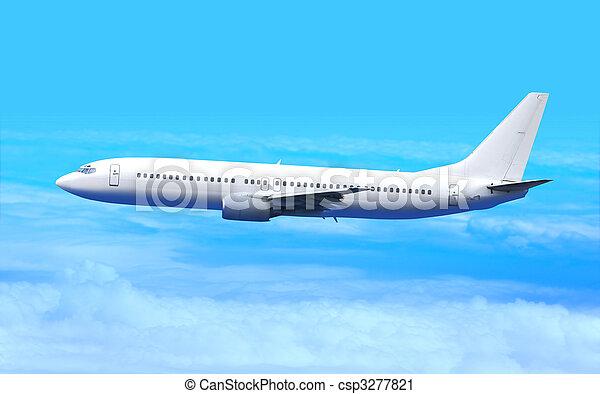 white airplane - csp3277821