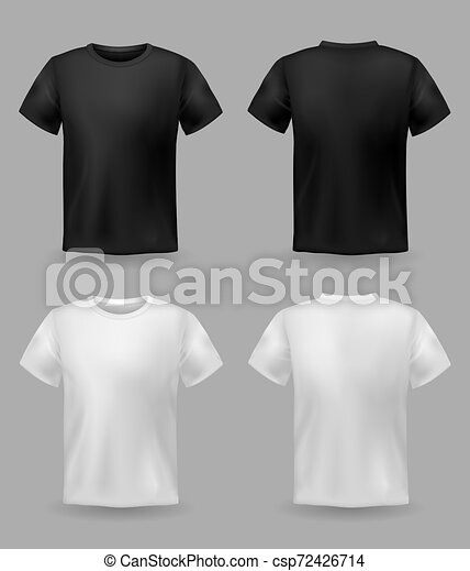 White And Black T Shirt Mockup Sport Blank Shirt Template Front
