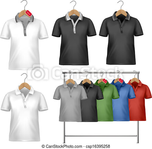 white and colorful t shirt design template clothes hanger with rh canstockphoto com T-Shirt Pattern T-Shirt Clip Art