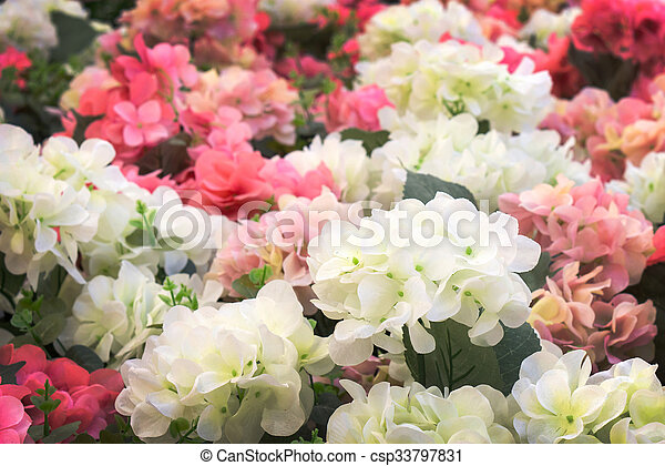 White and pink plastic flowers beautiful of white and pink plastic white and pink plastic flowers csp33797831 mightylinksfo