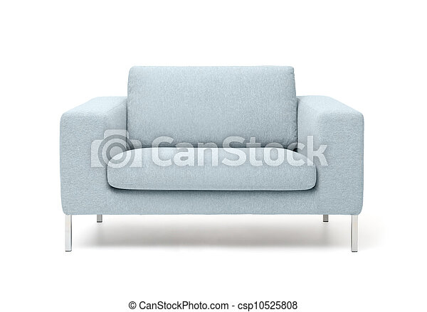 white armchair isolated on white background - csp10525808
