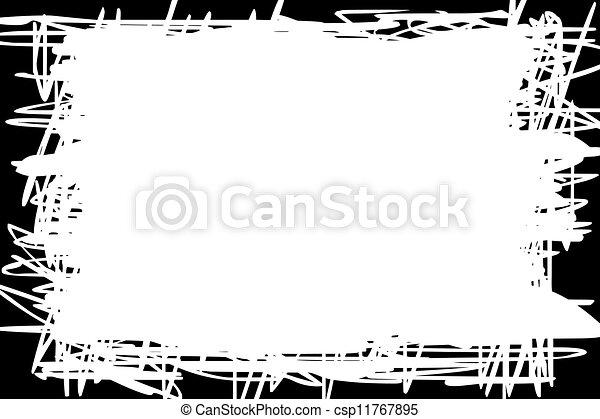 White Background With Black Border