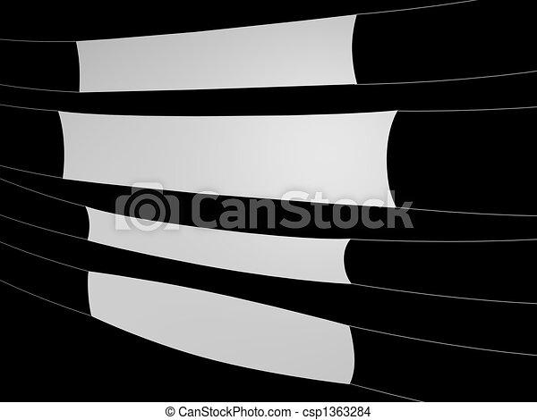 white banner on black background - csp1363284