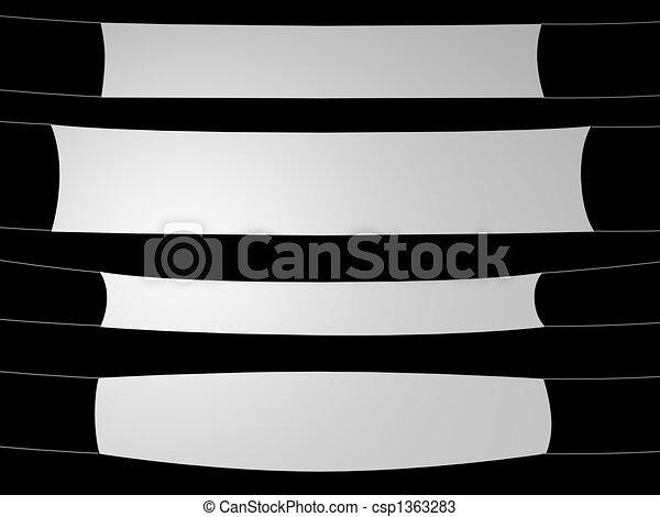 white banner on black background - csp1363283