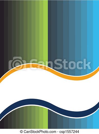 White Banner Presentation - csp1557244