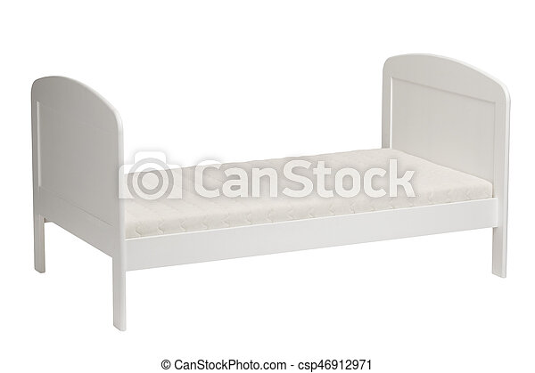 White bed for kids isolated - csp46912971