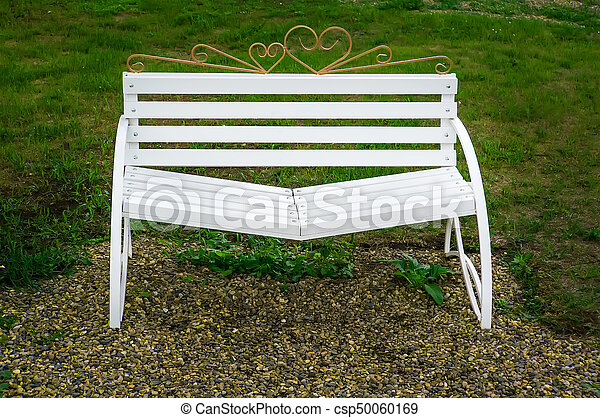 Swell White Bench Reconciliation With Sloping Seats Ncnpc Chair Design For Home Ncnpcorg