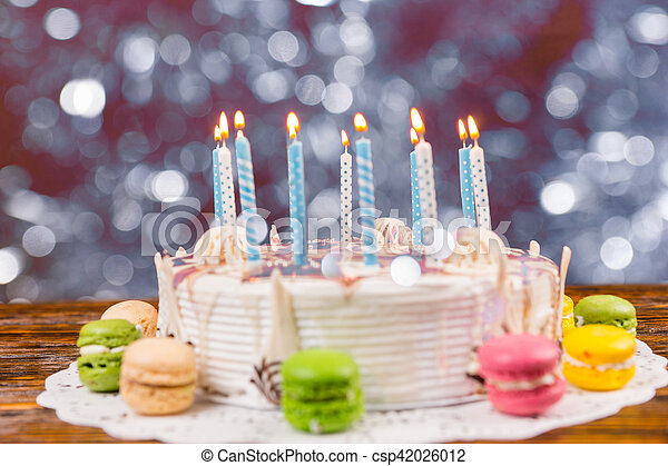Tremendous White Birthday Cake With Lots Of Burning Candles Near Different Funny Birthday Cards Online Hetedamsfinfo