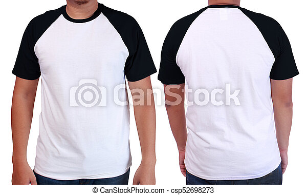White Black Ringer Shirt Mockup Template Blank Tshirt Mock Up - T shirt mockup template