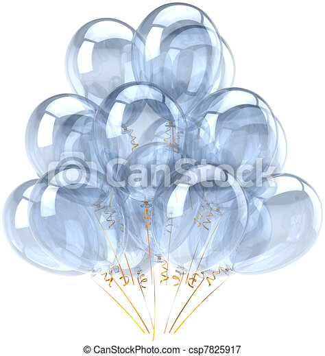 White blank party balloons classic - csp7825917