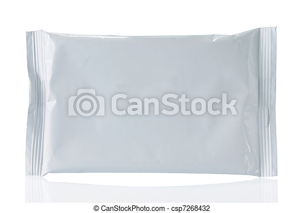 white blank plastic container - csp7268432