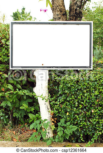 white blank sign - csp12361664