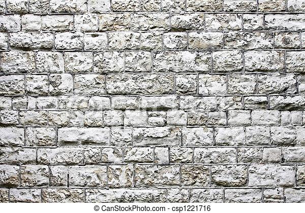 White block wall - csp1221716